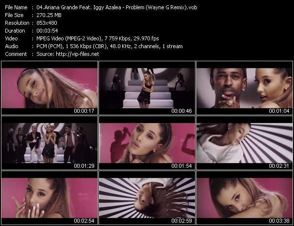 Screenshot of Music Video Ariana Grande Feat. Iggy Azalea - Problem (Wayne G Remix)
