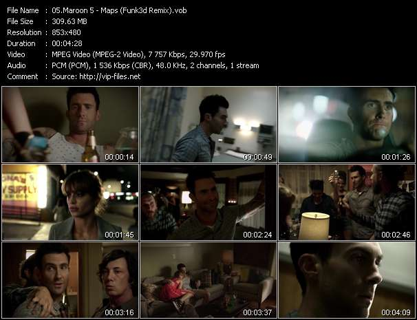 Screenshot of Music Video Maroon 5 - Maps (Funk3d Remix)