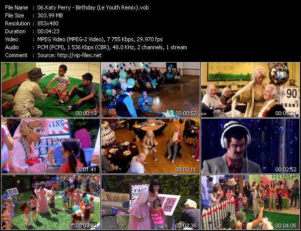 Screenshot of Music Video Katy Perry - Birthday (Le Youth Remix)