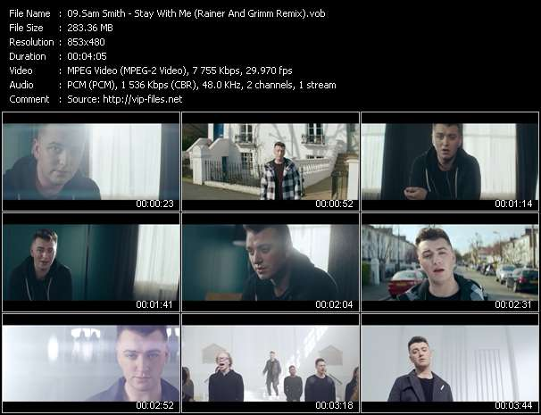 Screenshot of Music Video Sam Smith - Stay With Me (Rainer And Grimm Remix)