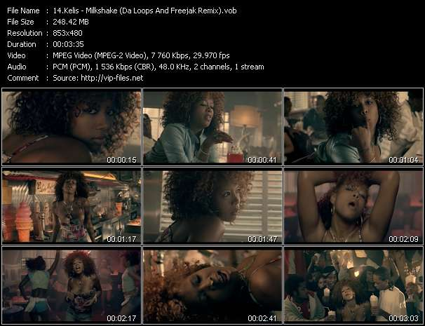 Screenshot of Music Video Kelis - Milkshake (Da Loops And Freejak Remix)