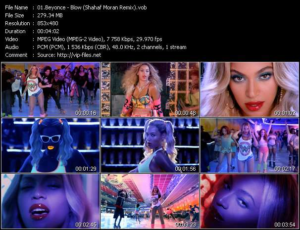 Screenshot of Music Video Beyonce - Blow (Shahaf Moran Remix)