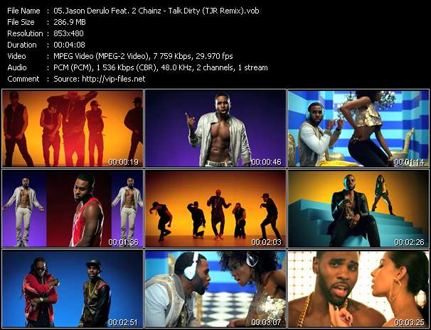 Screenshot of Music Video Jason Derulo Feat. 2 Chainz - Talk Dirty (TJR Remix)