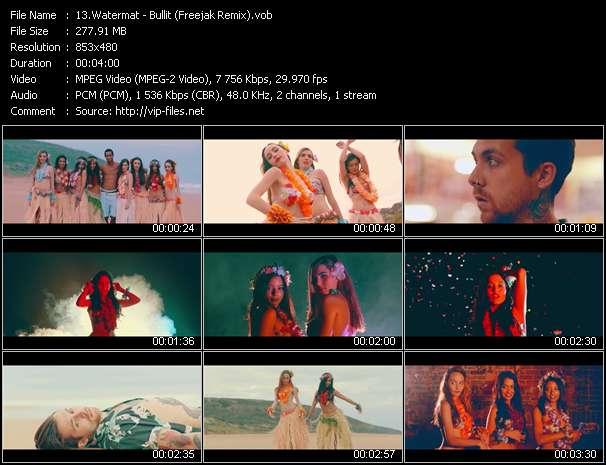 Screenshot of Music Video Watermat - Bullit (Freejak Remix)