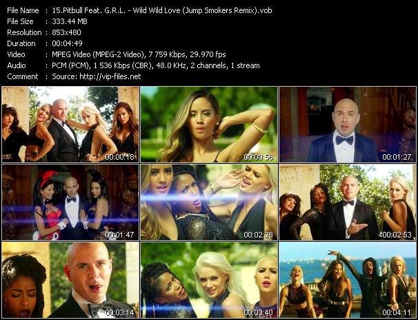 Screenshot of Music Video Pitbull Feat. G.R.L. - Wild Wild Love (Jump Smokers Remix)