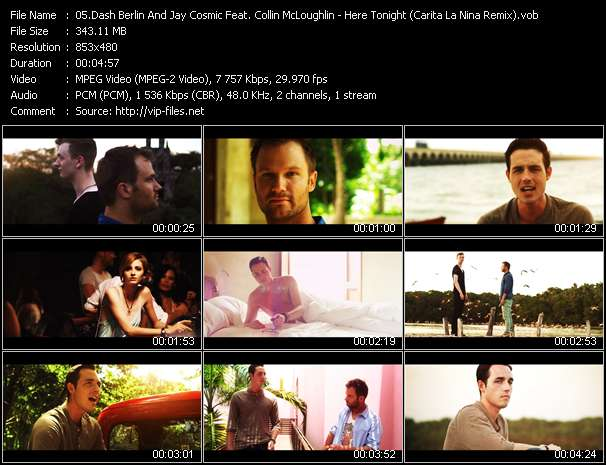 Screenshot of Music Video Dash Berlin And Jay Cosmic Feat. Collin McLoughlin - Here Tonight (Carita La Nina Remix)