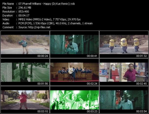 Screenshot of Music Video Pharrell Williams - Happy (Dj Kue Remix)