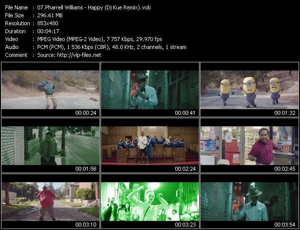 Screenshot of Music Video Pharrell Williams - Happy (Dj Kue Remix)