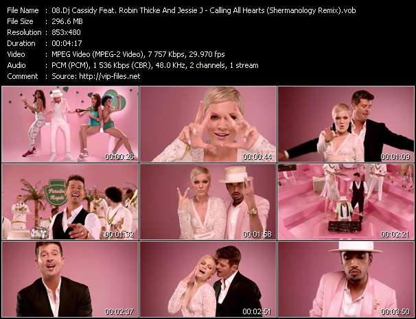 Screenshot of Music Video Dj Cassidy Feat. Robin Thicke And Jessie J - Calling All Hearts (Shermanology Remix)