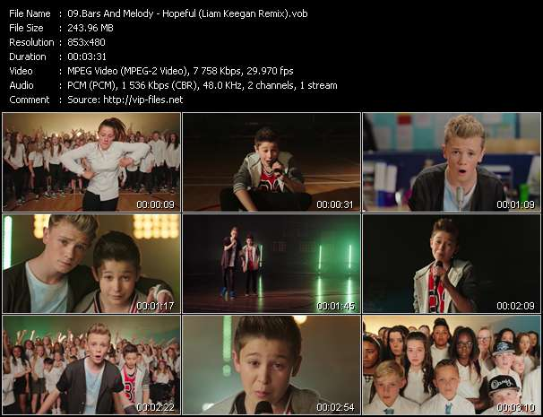 Screenshot of Music Video Bars And Melody - Hopeful (Liam Keegan Remix)