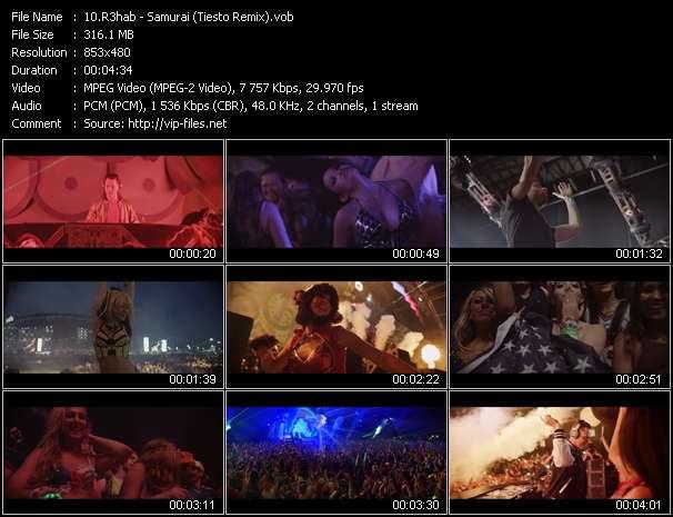 Screenshot of Music Video R3hab - Samurai (Tiesto Remix)