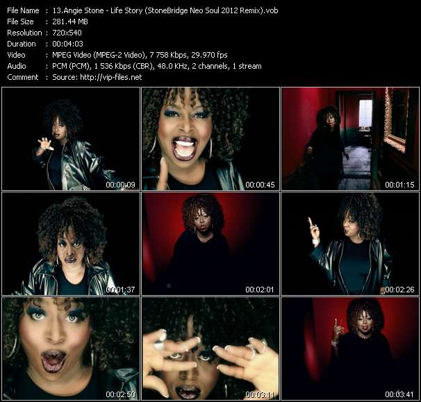 Screenshot of Music Video Angie Stone - Life Story (StoneBridge Neo Soul 2012 Remix)