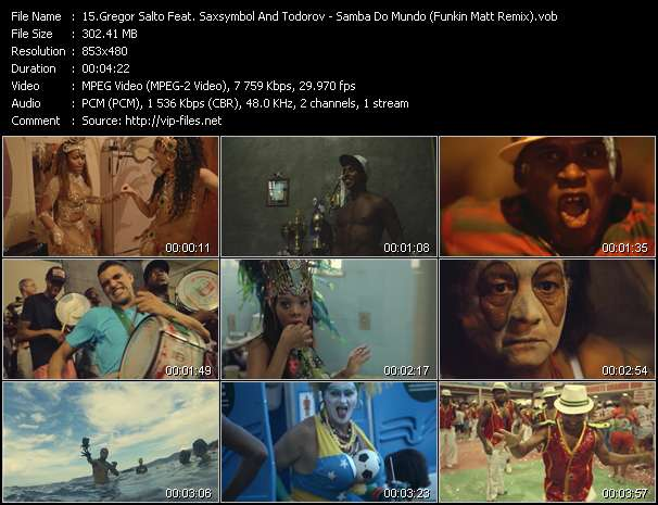 Screenshot of Music Video Gregor Salto Feat. Saxsymbol And Todorov - Samba Do Mundo (Funkin Matt Remix)