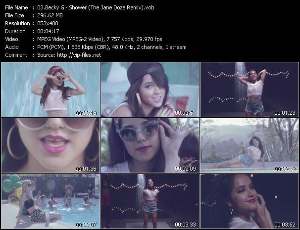 Screenshot of Music Video Becky G - Shower (The Jane Doze Remix)