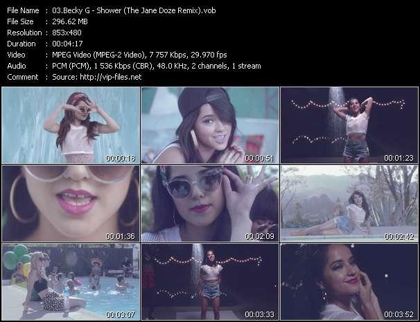 Screenshot of Music Video Becky G - Shower (The Jane Doze Remix)