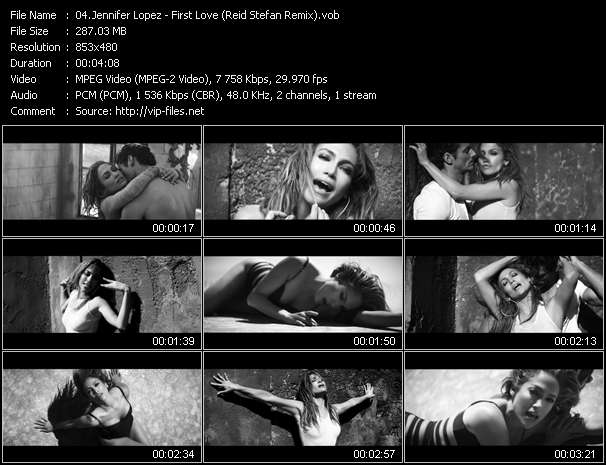 Screenshot of Music Video Jennifer Lopez - First Love (Reid Stefan Remix)