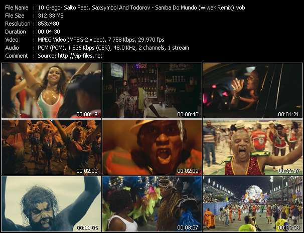 Screenshot of Music Video Gregor Salto Feat. Saxsymbol And Todorov - Samba Do Mundo (Wiwek Remix)