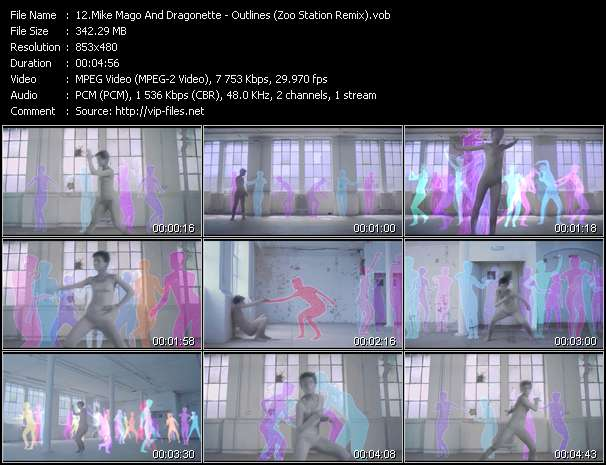 Screenshot of Music Video Mike Mago And Dragonette - Outlines (Zoo Station Remix)