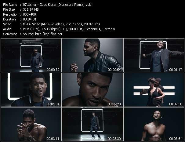 Screenshot of Music Video Usher - Good Kisser (Disclosure Remix)