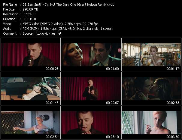 Screenshot of Music Video Sam Smith - I'm Not The Only One (Grant Nelson Remix)