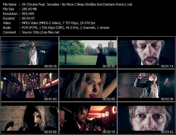 Screenshot of Music Video Chicane Feat. Senadee - No More I Sleep (Antillas And Dankann Remix)