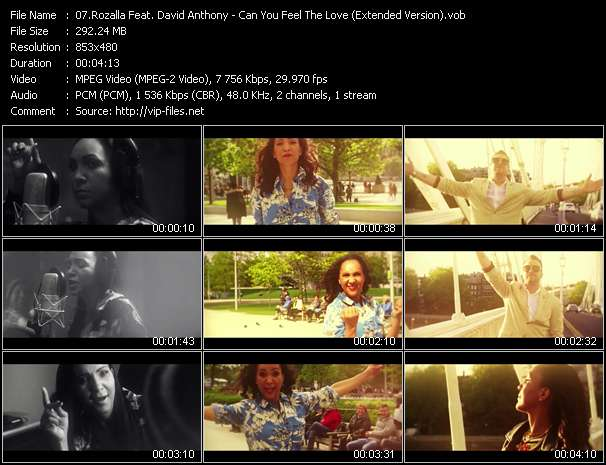 Rozalla Feat. David Anthony clips musicaux vob