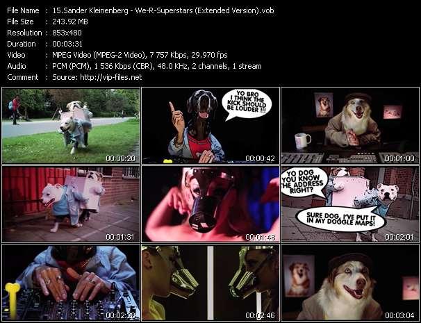 Screenshot of Music Video Sander Kleinenberg - We-R-Superstars (Extended Version)