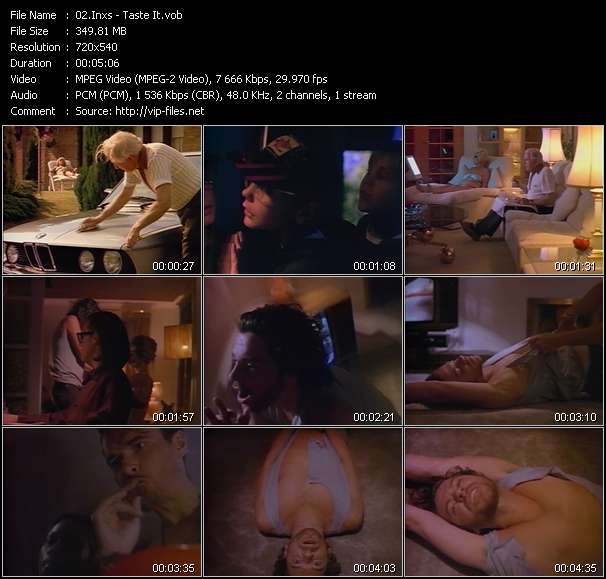 Screenshot of Music Video Inxs - Taste It