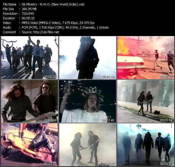 Screenshot of Music Video Ministry - N.W.O. (New World Order)