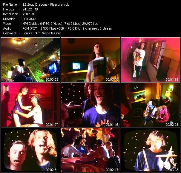 Screenshot of Music Video Soup Dragons - Pleasure