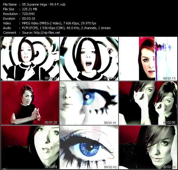 Screenshot of Music Video Suzanne Vega - 99.9 F
