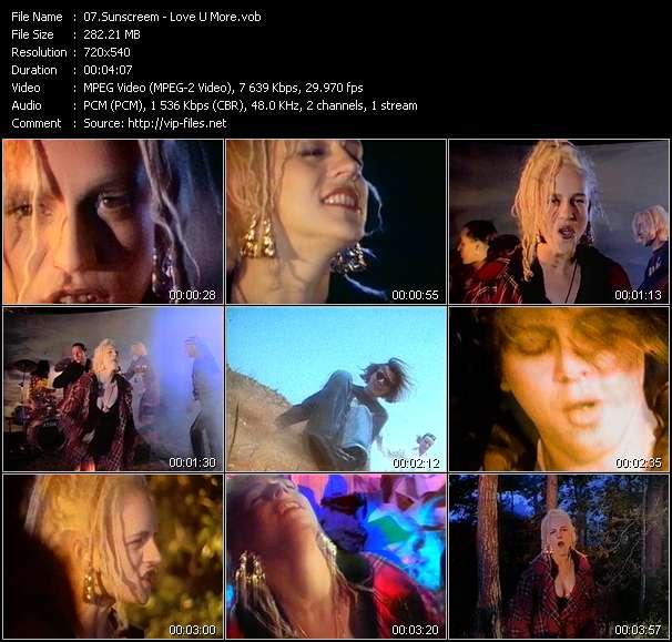 Screenshot of Music Video Sunscreem - Love U More