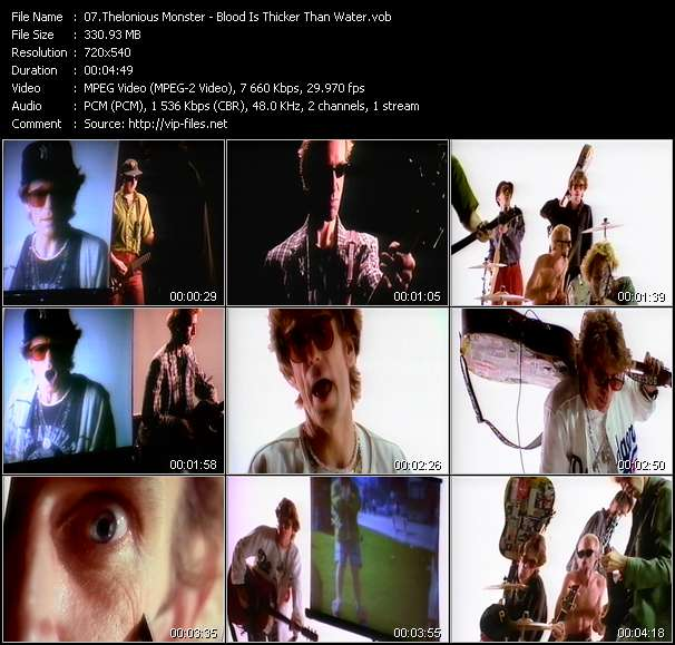 Screenshot of Music Video Thelonious Monster - Blood Is Thicker Than Water