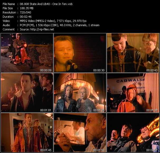 Screenshot of Music Video 808 State And Ub40 - One In Ten