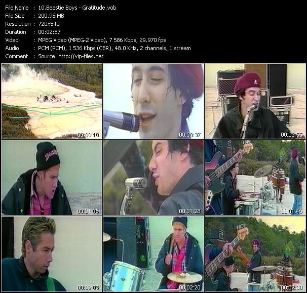 Screenshot of Music Video Beastie Boys - Gratitude