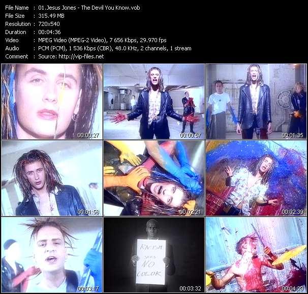 Screenshot of Music Video Jesus Jones - The Devil You Know