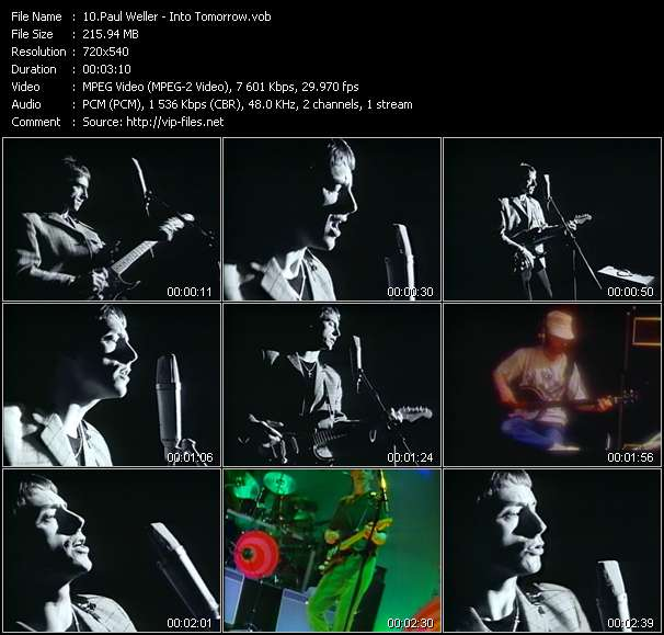 Screenshot of Music Video Paul Weller - Into Tomorrow