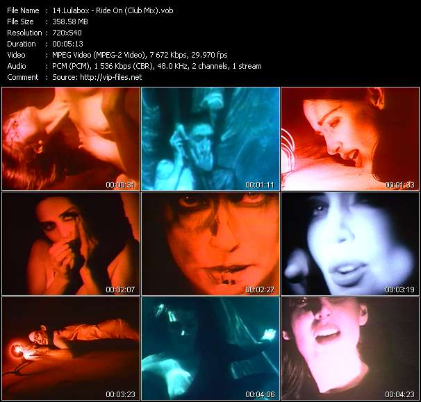 Screenshot of Music Video Lulabox - Ride On (Club Mix)