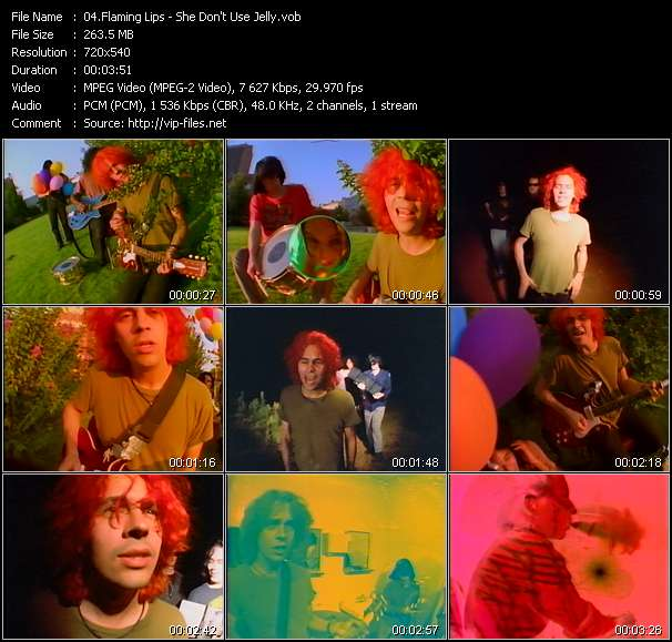 Screenshot of Music Video Flaming Lips - She Don't Use Jelly