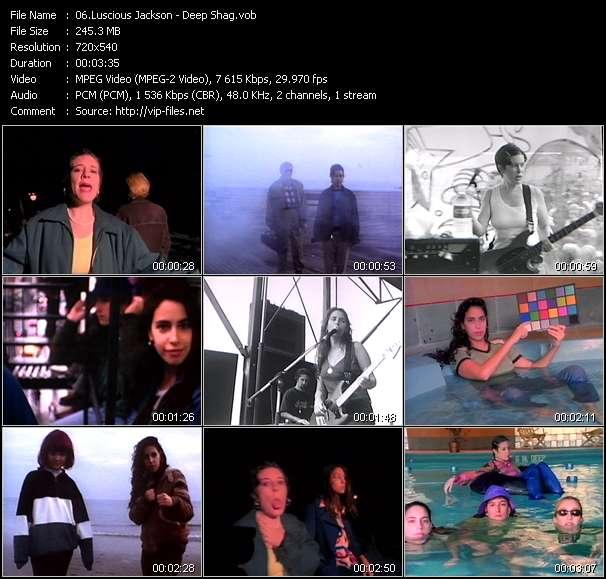 Screenshot of Music Video Luscious Jackson - Deep Shag