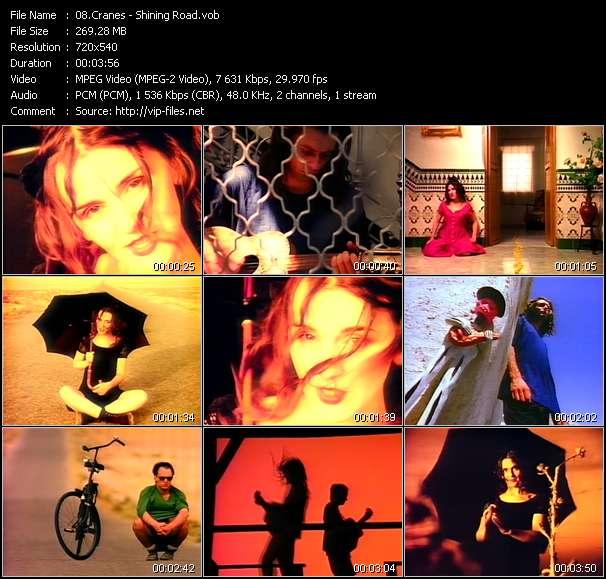 Screenshot of Music Video Cranes - Shining Road