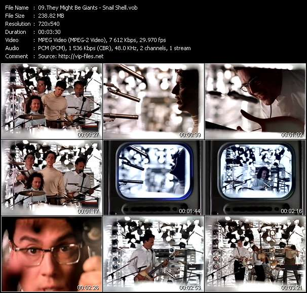 Screenshot of Music Video They Might Be Giants - Snail Shell