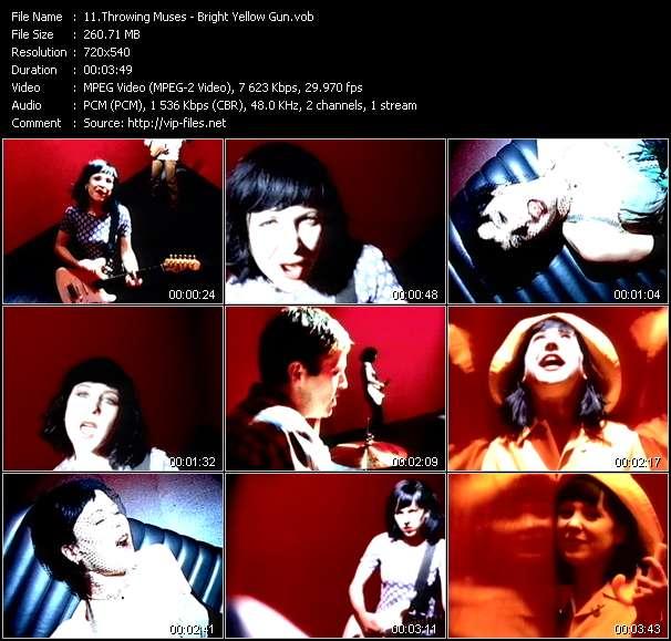 Screenshot of Music Video Throwing Muses - Bright Yellow Gun