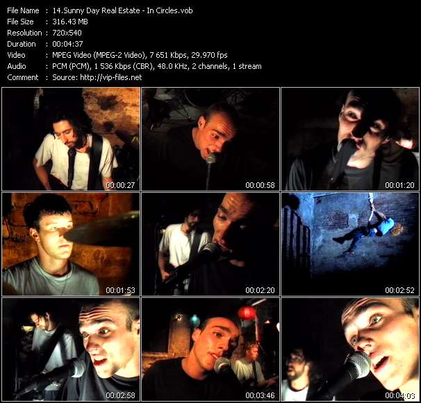 Screenshot of Music Video Sunny Day Real Estate - In Circles