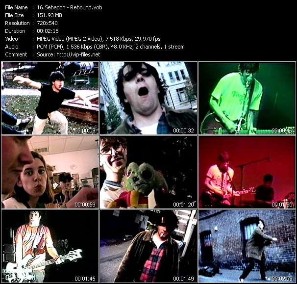 Screenshot of Music Video Sebadoh - Rebound