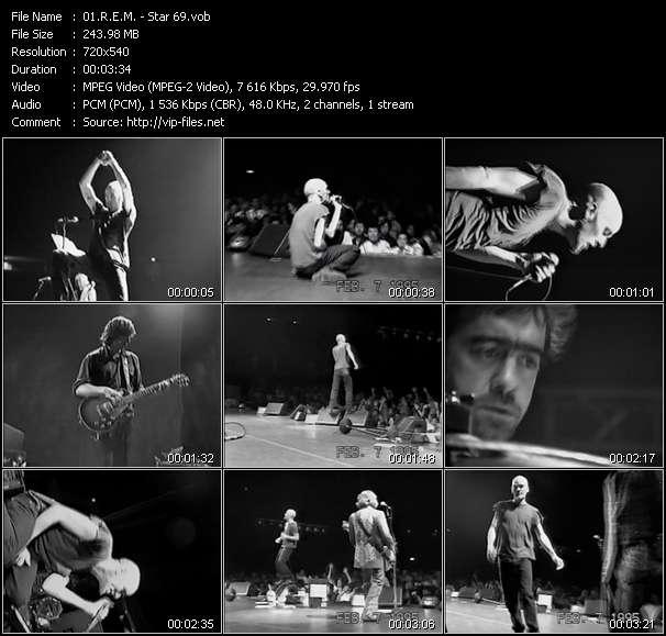 Screenshot of Music Video R.E.M. - Star 69