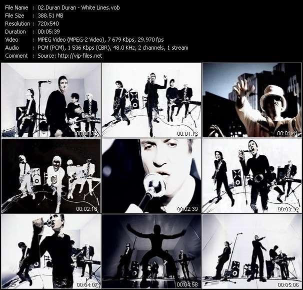 Screenshot of Music Video Duran Duran - White Lines