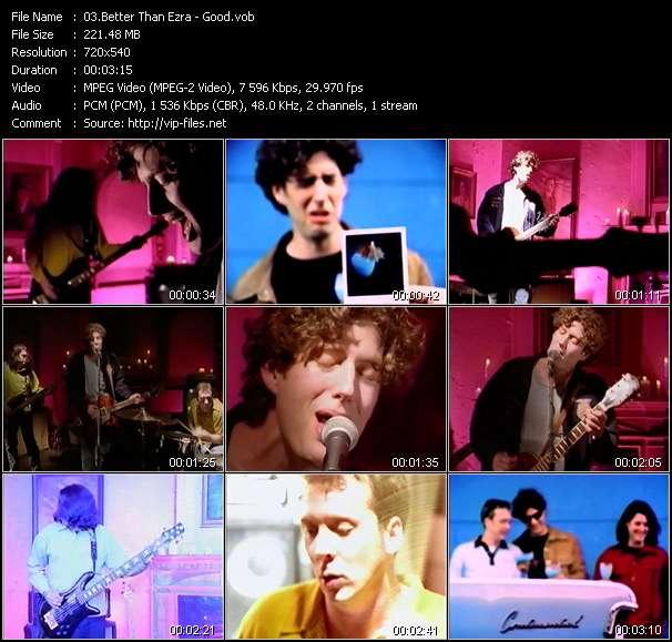 Screenshot of Music Video Better Than Ezra - Good