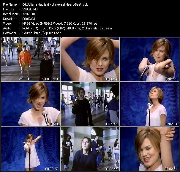 Screenshot of Music Video Juliana Hatfield - Universal Heart-Beat