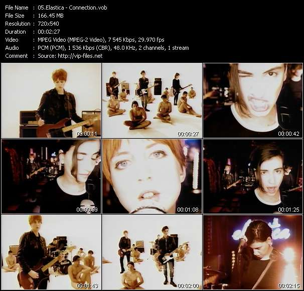 Screenshot of Music Video Elastica - Connection